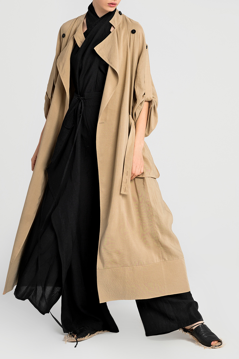 Trench coat  with contrast stitching