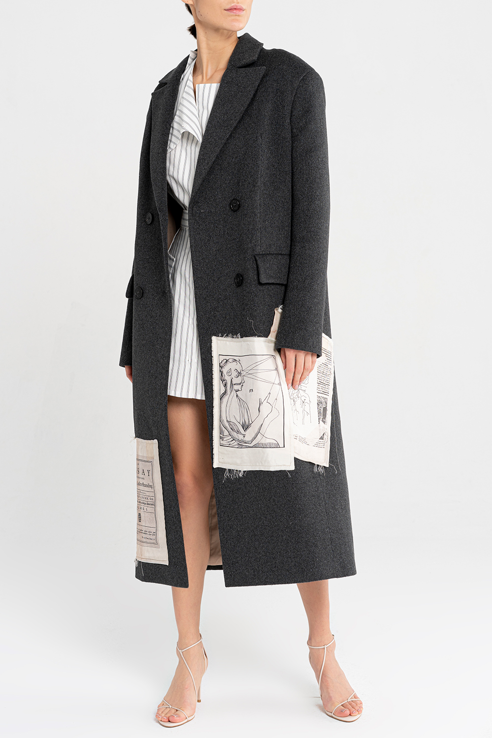 Applique-patch coat