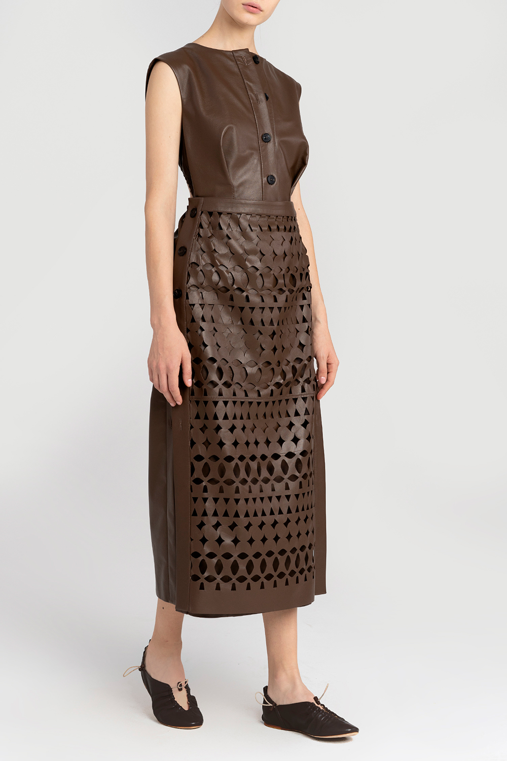 Transformable leather dress