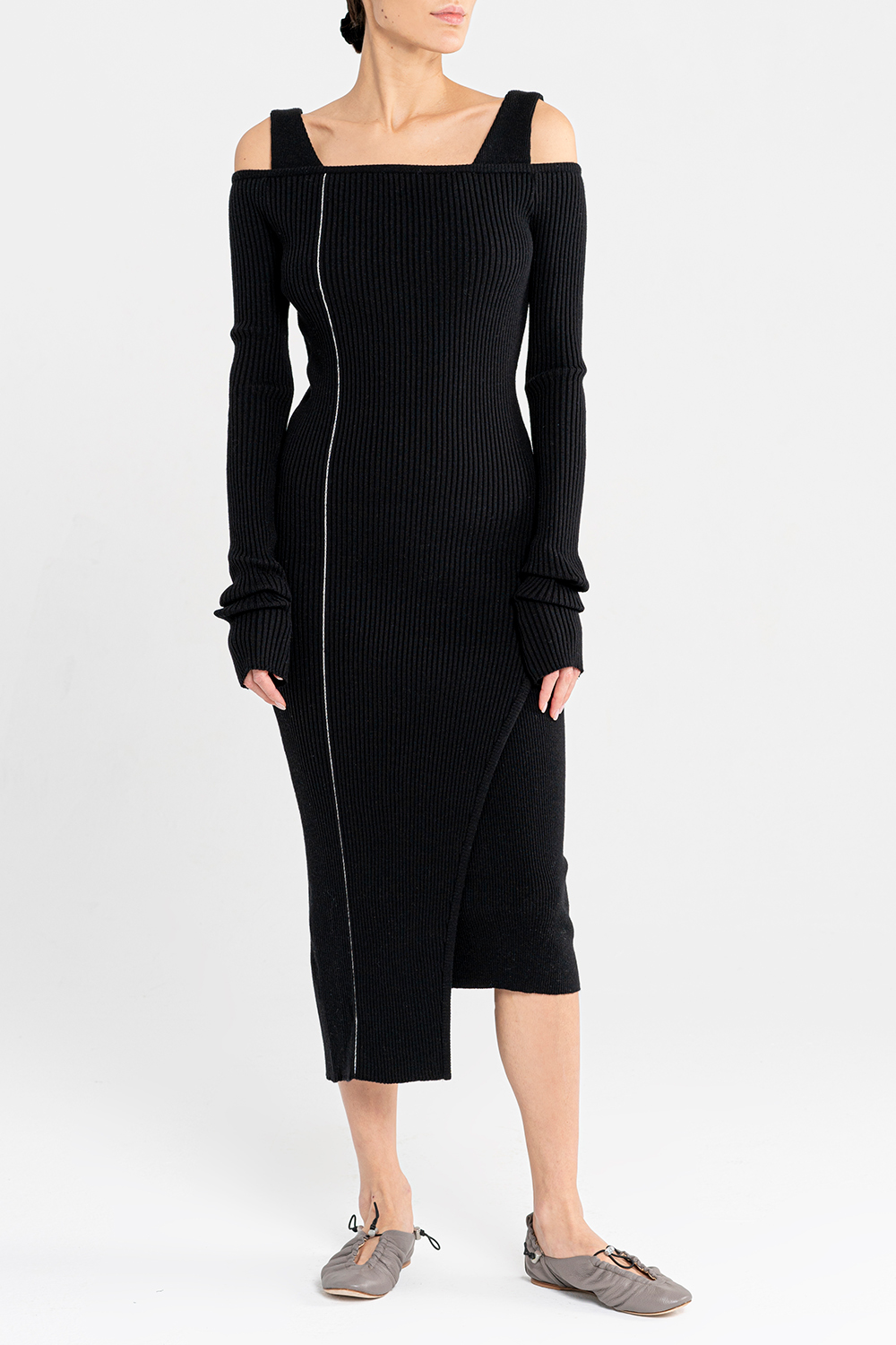 2-in-1 knitted dress